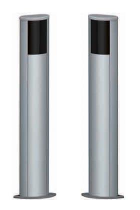 Colonnine in alluminio porta fotocellule